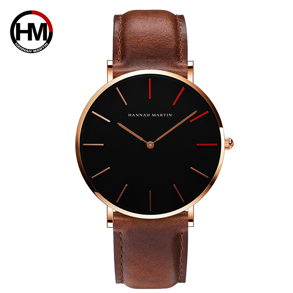 Brand Japan Quartz Men Women Wrist Watches Luxury Ultra Thin Leather Gold Ladies Watch Female Male Clock Xfcs Relogio Feminino