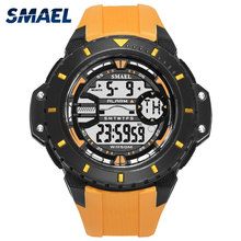 SMAEL Chronograph Military Digital-watch Men's Fashion Sports Army Watch LED Electronic Wrist Watches for Men Clock bangwei military digital watch men style fashion sport army watch led electronic wrist watches men fitness pedometer smart watch