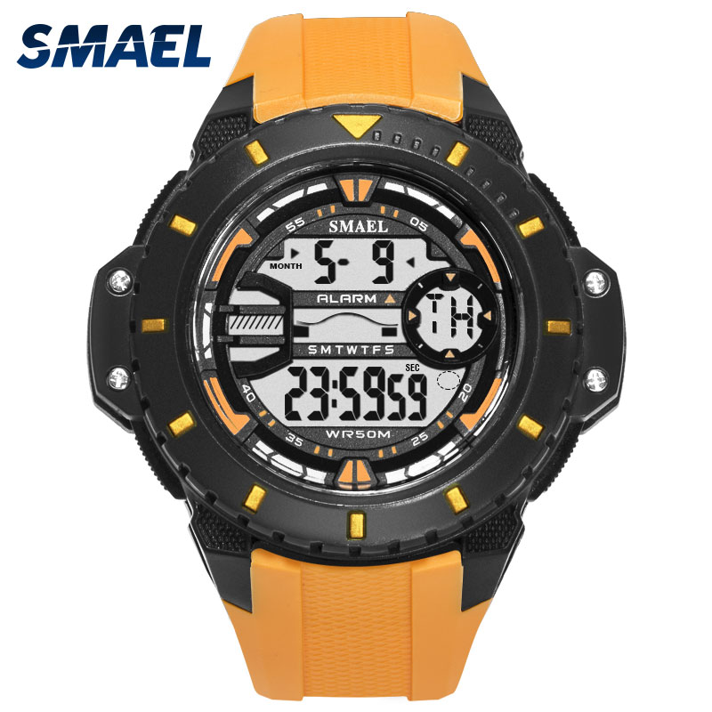 SMAEL Chronograph Military Digital-watch Men's Fashion Sports Army Watch LED Electronic Wrist Watches for Men Clock