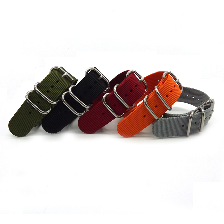 Special Offer Wholesale 18mm 20mm 22mm 24mm Nylon Nato Watch Band  Solid color Zulu Nylon Watch Band Straps special offer wholesale 20mm nylon zulu watch band straps black orange black rings