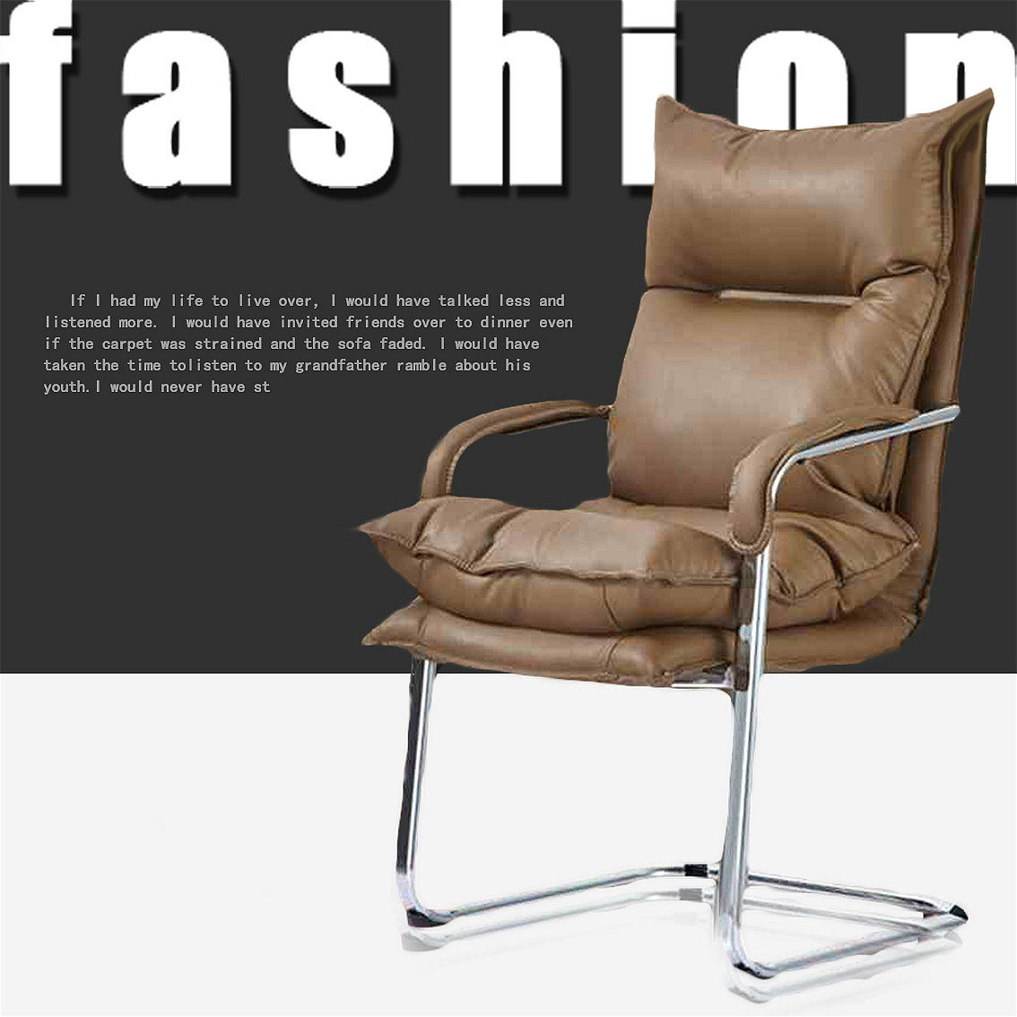 KY131 Fashion computer chair office chair conference chair training chair home Internet cafe staff bow chair Soft elastic sponge