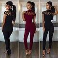 Новые Поступления Мода Женщины Повседневные Коротким Рукавом Комбинезоны Боди Ползунки Комбинезон Длинные Брюки