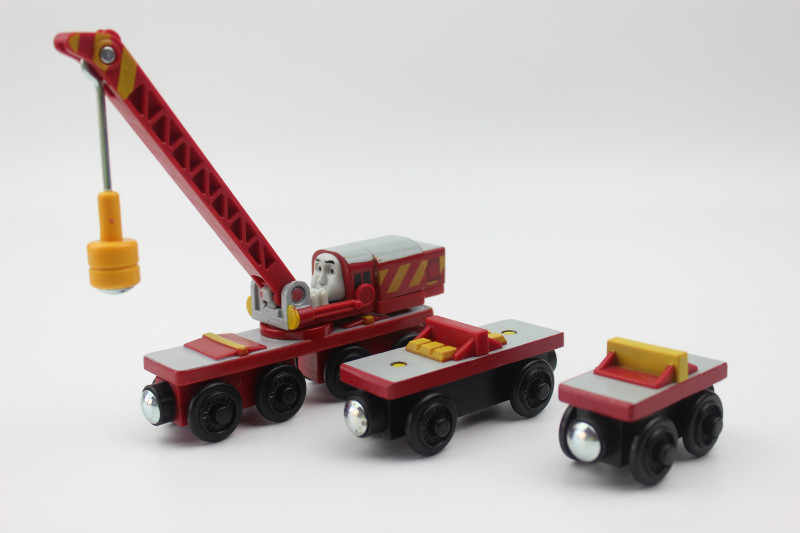 Nocky Marion Jack Diesel 10 Rocket Wooden Trains Toys Compatible with Brio Wooden Railway Train Track Locomotive