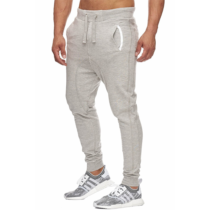 Men Pants 2018 Male Brand Straight Trousers Workout Long Pants Cotton Jogger Tracksuit Funky Sweatpants Plus Size 3XL Gray Black