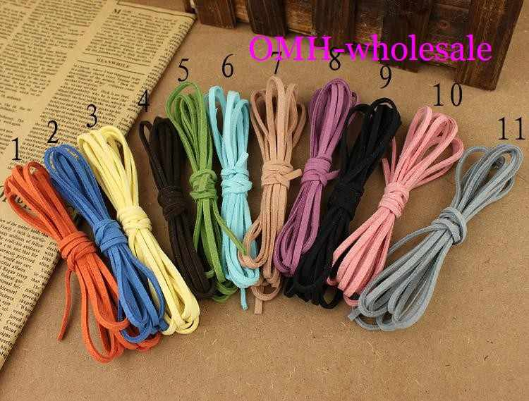 OMH wholesale 5M 5strip each long 1M Jewellery making tool Soft velvet Korea frosting Cord Thread For Diy Bracelet Necklace