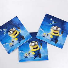 20pc cute cartoon small yellow man paper napkin Birthday Party Decoration and festival event party supplies