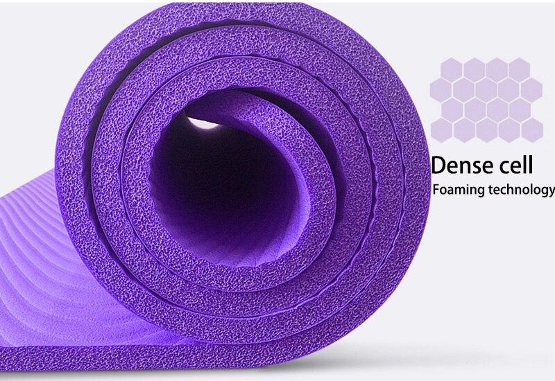 NBR Yoga Mat  15mm Thickness Slim Yoga Mats Non-slip Tasteless Fitness Esterilla Pilates Home Exercises Gym Sport Pad 10