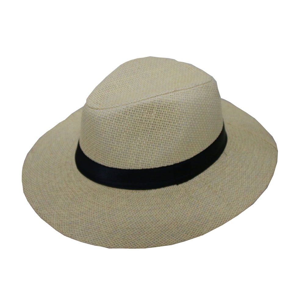 2f7e9f7fb3a Fashion Unisex Summer Straw Women s Men s wide Brim Sun Hats Trilby  Gangster Cap Sunhat Beach Straw Fedora hat Panama Cap 10