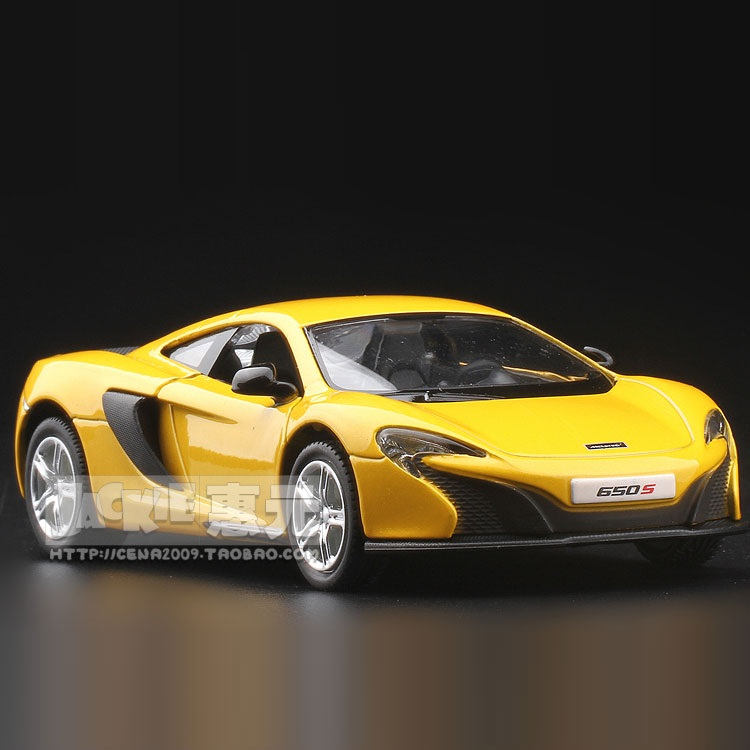 High Simulation Exquisite Diecasts&Toy Vehicles: RMZ City Car Styling Mclaren 650S Supersport 1:36 Alloy Diecast Model Toy Car