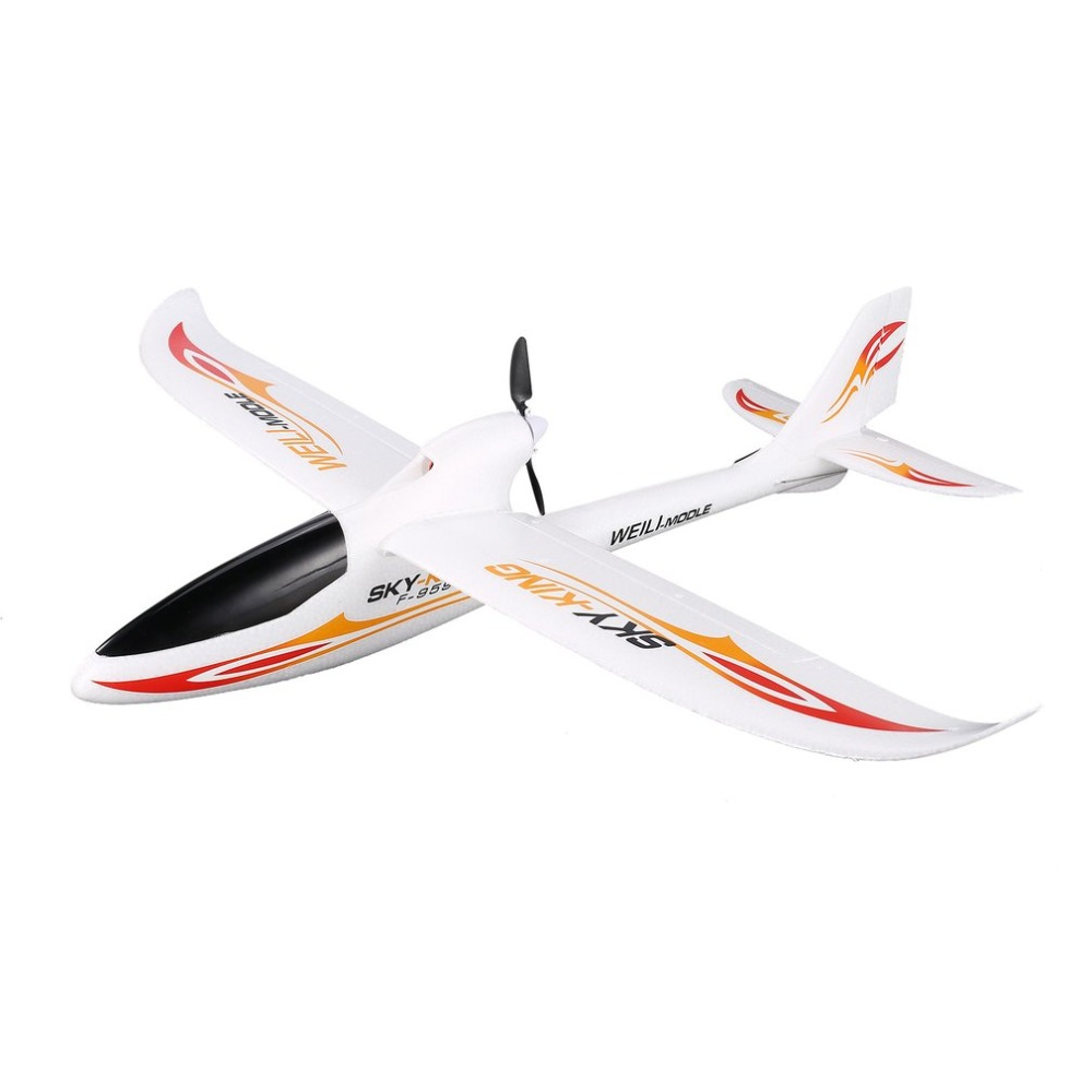 WLtoys F959 2.4G Radio Control 3 CH EU plug RC Airplane Fixed Wing RTF SKY-King Aircraft Outdoor Drone Toy Foldable Propeller newest wltoys f949 sky king 2 4g radio control 3ch rc airplane fixed wing plane vs wltoys f929 f939 f959