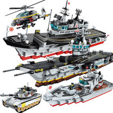 Military Aircraft Carrier Apache Attack Helicopter Special Forces Bricks Compatible Legoes Figures Building Blocks Kids Gift