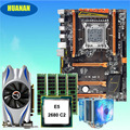HUANAN ZHI deluxe X79 motherboard with M.2 slot discount mobo with CPU Xeon E5 2680 C2 cooler RAM 16G(4*4G) RECC GTX650Ti 2GD5