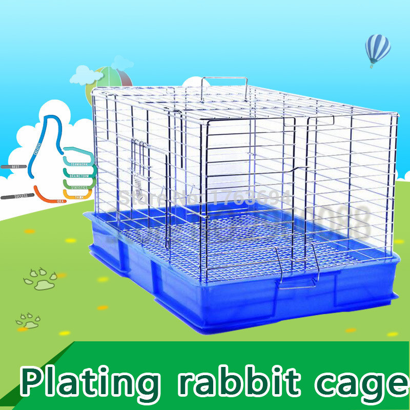 Strongly recommend that Free shipping plating iron wire Spring door pet Rabbit cages Guinea Pig cage Oversized Travel carry