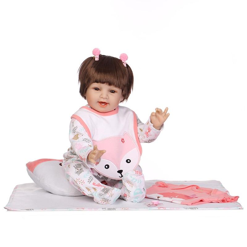 цена 55CM Lifelike Jointed Vinyl Reborn Doll Princess Girls Baby Play Dolls Toy for Kids Playmate M09
