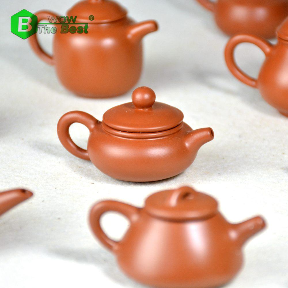 1piece Mini Çaydanlıq, Qədim Bənövşəyi Gil çaydanı Daş - Mətbəx, yemək otağı və barı - Fotoqrafiya 3