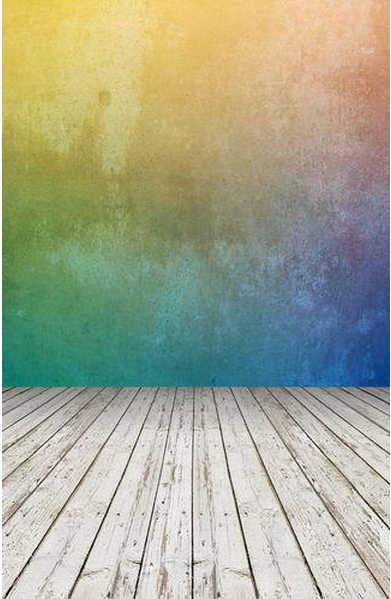 8x12FT Kaki Geel Blue Tone Abstract Muur Wit Houten Floor Custom Fotografie Achtergronden Studio Achtergronden Vinyl 8x15 10x20