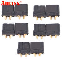 Amass XT60U Männlich-weibliche Kugel Anschlüsse Stecker für Lipo Batterie Verbesserte XT60