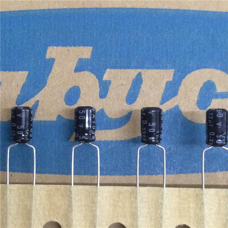 10pcs 0 33uf 50v Rubycon Ms7 Series 4x7mm 50v0 33uf