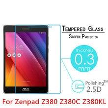 Vidro temperado para asus zenpad 8.0 z380 z380c z380m z380kl protetor de tela 8 polegada tablet película de vidro protetora 9h premium 0.3mm