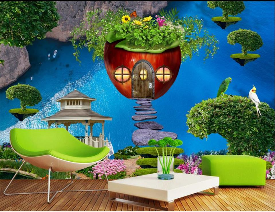 3d ceiling murals wallpaper custom photo non-woven apple dream decoration painting 3d wall mural wallpaper for living room ceiling non woven wallpapr home decoration wallpapers for living room 3d mural wallpaper ceiling customize size