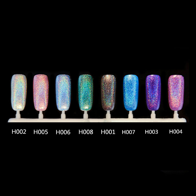 BORN PRETTY High Ingredients Holographic Nail Polish 10ml Holo ...