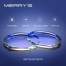 MERRYS Anti Blue Light Series 1.56 1.61 1.67 Prescription CR 39 Resin Aspheric Glasses Lenses Myopia Hyperopia Presbyopia Lens