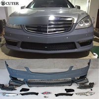W221 S350 S400 S65 style PP Car Body Kit front Bumper For Benz S350 S400 W221 S65 07 13