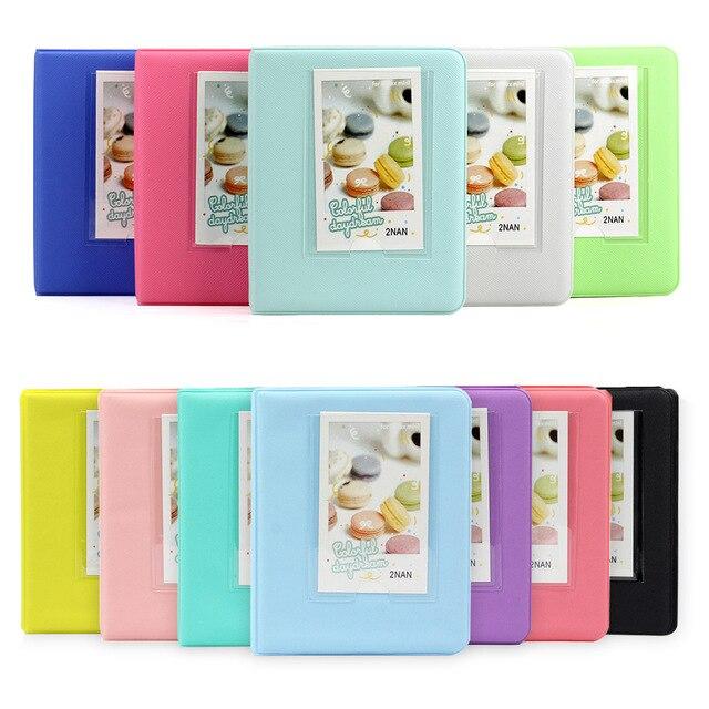 Карамельный цвет 64 карманы 3 дюймов фотоальбом белая пленка для Fuji Instax минипленки камеры моментальной печати Mini 9 камеры одноступенного процесса 8 7 s 70 25 90 кредитных имя держатель для карт