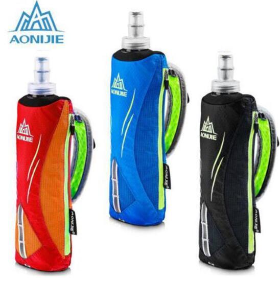 Running Hand-held Water Bottle Kettle Holder Wrist Storage Bag Hydration Pack