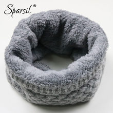 Sparsil Unisex Winter Warm Knitted Ring Scarves Thick Fleece Inside Super Elastic Knit Mufflers Men Women Children Neck Warmers(China)