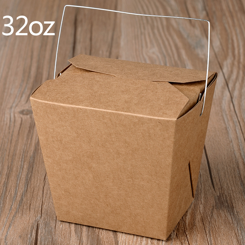 Desechable caja de almuerzo de papel Kraft con mango creativo para - Para fiestas y celebraciones - foto 5