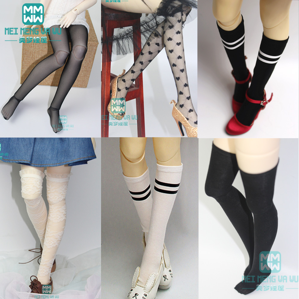 RED OR PURPLE Stockings Socks For 1//3 1//4 SD BJD Doll