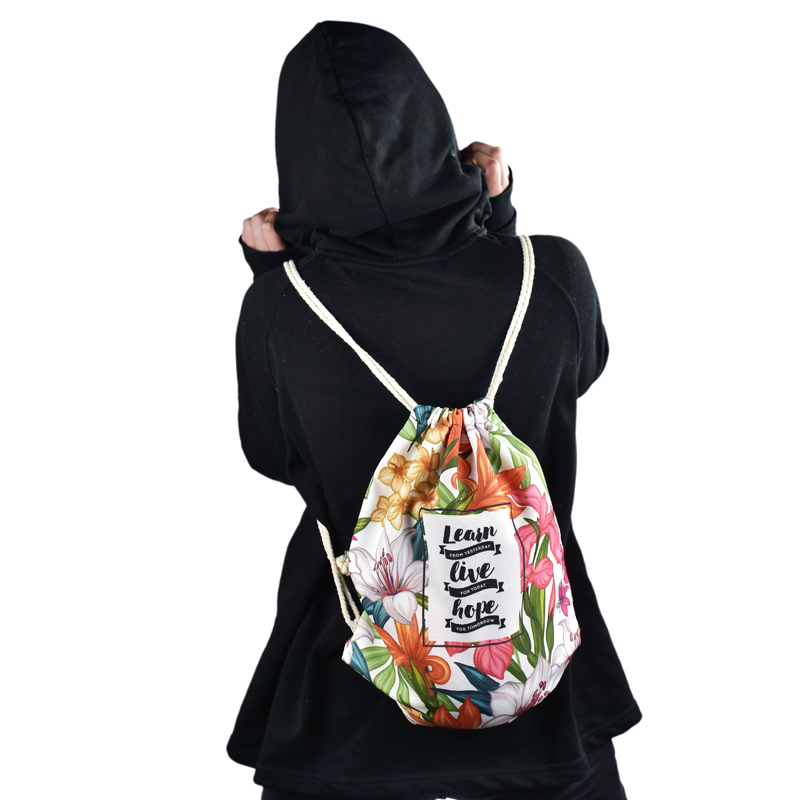 Simple Qualities Comfortable Girl Nylon Polyester Backpacks Cute Printing Female Student ...