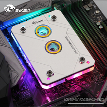 цена на Bykski CPU Water Block use for AMD RYZEN3000 AM3 AM3+ AM4 1950X TR4 X399 X570 Motherboard /5V 3PIN RGB Light to Motherboard AURA
