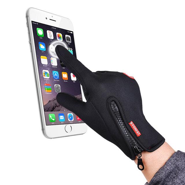 Outdoor sports Windstopper Waterproof gloves bike riding gloves winter full finger horse riding gloves warm fishing GEL glove