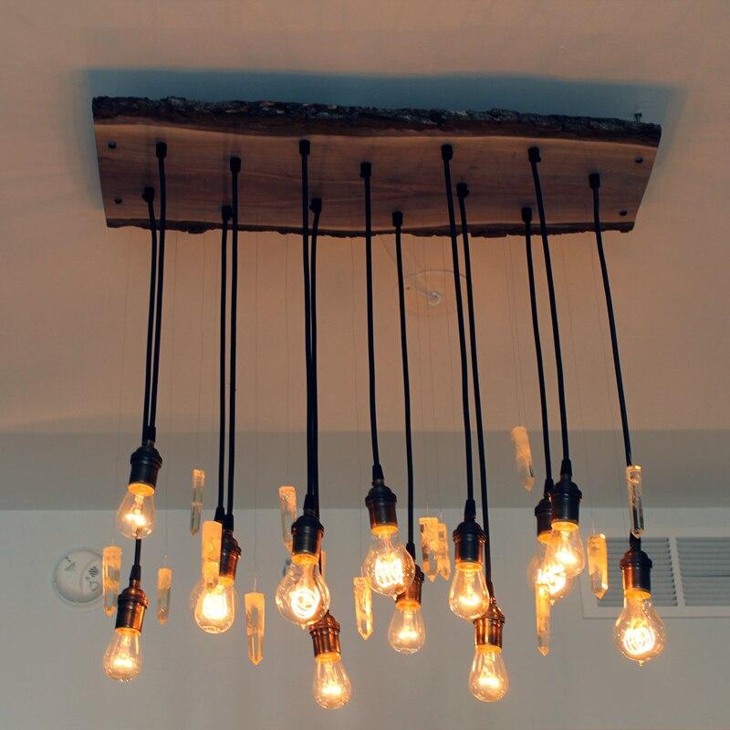 YNL קלאסי בציר כבל תליון אורות hamg אור רטרו אור מחזיק E27 220V 110V מנורת בעל בית תאורה