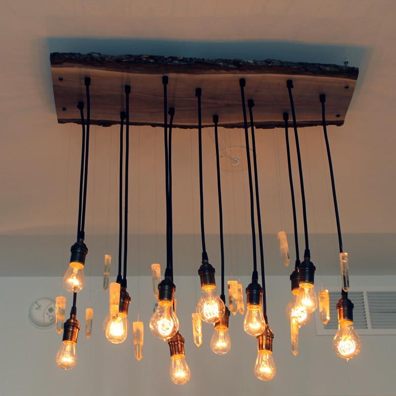 YNL Klasik Vintage Kordon Kolye Işıkları hamg ışık Retro lamba tutucu E27 220V 110V Lamba tutucu Ev aydınlatma