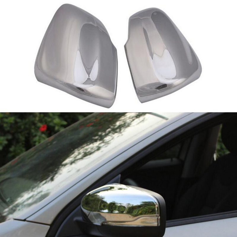 Car stickers Chromium Styling Chrome Side Door Rear view Mirrors Cover Trims 2pcs Exterior ABS For VOLVO XC60 2014-2015 car styling abs chrome body side moldings side door decoration for hyundai ix35