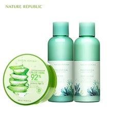 Nature Republic Polynesia Lagoon Water Hydro Emulsion Skin Moisturizing Aloe Vera Cream Korean Care Set