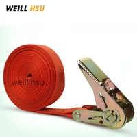 6m X 2.5cm 800kg Weill Hsu Car Luggage Cargo Polyster Tape Strap Bind Belt Auto Bundling Belt Ratchet Tie Down