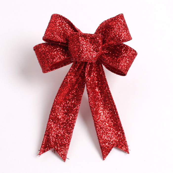 23CM Large Red Christmas Bow for Christmas Christmas Gift and Decorations New Bowknot for Tree Wreath զարդարանքների համար