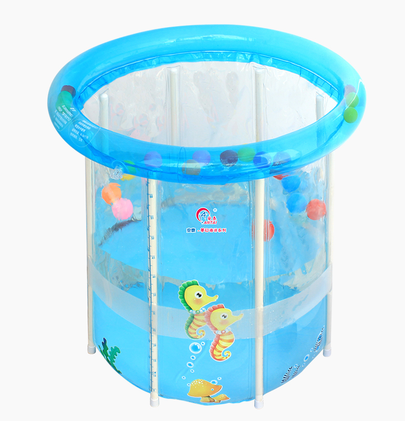 Household Baby Newborn Swimming Pool  Swimming Barrel Transparent Heat Preservation 76*76cm Thicken Imported PVC Barrel