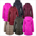 2017 New Winter Jacket Women Cotton Coat Slim Parkas Ladies Coat Long Hooded Plus Size Ultra Light  Outerwear  H138