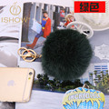 10cm Rabbit fur ball keychain hot fur pompom key chains porte clef fourrure llavero pom pom keychain key ring cubre llaves