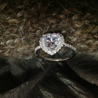 high quality silver heart engagement ring for women