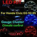 Инструмент Калибровочной Кластера + Климат-контроль Светодиодные КОМПЛЕКТ Белый Синий красный Зеленый Розовый Желтый Для Honda Civic EG 1993 1992 1994 1995