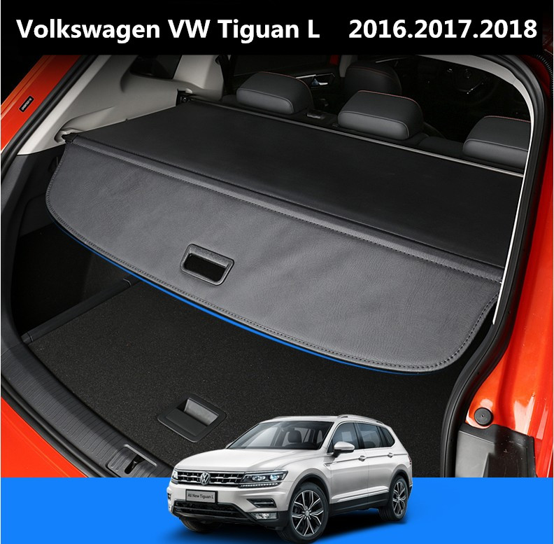 Car Rear Trunk Security Shield Cargo Cover For Volkswagen VW Tiguan L 2016.2017.2018 High Qualit Auto Accessories Black Beige 1 18 масштаб vw volkswagen новый tiguan l 2017 оранжевый diecast модель автомобиля