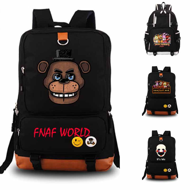 Five Nights At Freddys Backpack student school bag Notebook backpack Leisure Daily backpack FNAF WORLD Bags