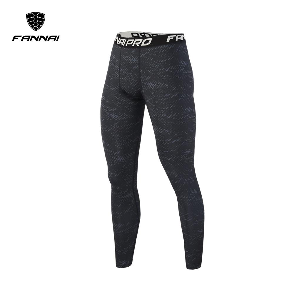FANNAI 2018 New Men Compression Running Pants Long Sports Tights Men Jogging Leggings Fitness Gym Slim Clothing Sport Leggings