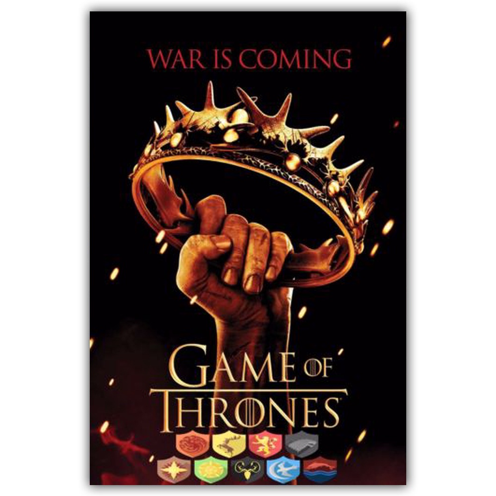 Game Of Thrones - War is Coming Movie Art Silk Fabric Poster Print 24x36 inch